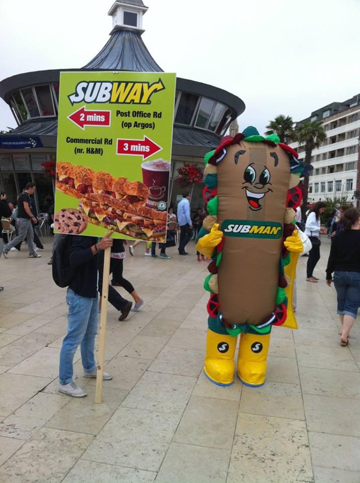 Subway Inflatable Mascot